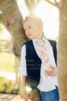 Little Guy Spring EASTER Necktie Tie - Teal Red Yellow Collection - (12m- 2T) - Baby Boy Toddler - Custom Order - Photo Prop
