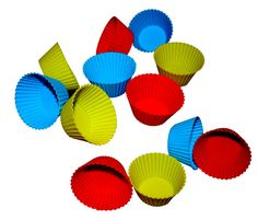 Amazon.com: Silicone Baking Cups - Set of 12 Non-stick Reusable Cupcake Liners with Storage Container - Perfect for Muffins, Cupcakes, Frozen Treats, Gelatin, Ice Cream Molds and Bento Lunch Boxes - In 3 Beautiful Colors Red, Blue and Green - FDA Approved 100% Food Grade Silicone - Use in Microwave, Freezer, Oven, Dishwasher Safe Lifetime Guarantee: Kitchen Tool Sets: Kitchen & Dining