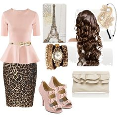 Leopard print. Except the shoes..I'd prefer a flower or bow or buckle on the toe.. ; )