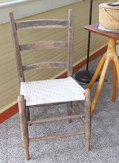 FREE Online Instructions for a Ladder Back Chair Seat -- Weaving a Ladder Back Chair Seat with Flat Reed -- Sometime in the early 1980s, Lestel Childress, a fifth generation white oak basket maker from Park City Kentucky, showed Beth and I how to weave a seat for a ladder back chair. The following instructions are based on Lestel's method. Instead of white oak splits, we are using flat reed for our chair seat. Flat reed is inexpensive, makes a strong chair seat and will last for years.