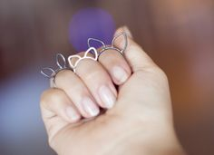 Ring designs including cat ears