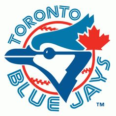 MLB Toronto Blue Jays Primary Logo - A Blue Jay head with a maple leaf on a baseball surrounded by team name. Commonwealth, Best Logos Ever, Toronto Blue Jays Logo, Sports Team Logos, Sports Teams, Nhl Logos, Sports Art, Team Mascots, Mlb Teams