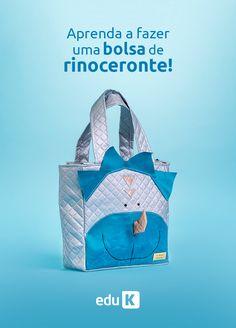 """Aprenda a fazer essa bolsa e muito mais no curso """"Bolsas e acessórios para bebês e crianças"""" com Carol Viana :)  Curso on-line, ao vivo e gratuito."""