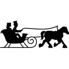 Image result for sleigh silhouette