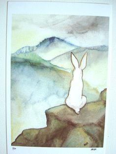 The Hermit - Limited Edition Fine Art Print - the Rabbit Tarot. $20.00, via Etsy.