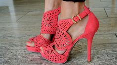 Coral pumps with delicate designs