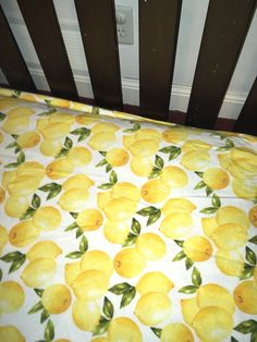 A personal favorite from my Etsy shop https://www.etsy.com/listing/574834077/lemons-citrus-flannel-fitted-crib-sheet