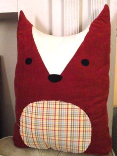 DIY fox pillow, from A Beautiful Mess free pattern and tutorial