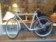Wood bike.  Boltz & Saos designers.  Strasbourg, France