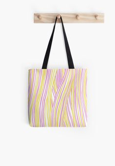 Funky stripes, white, pink and yellow by ptitsa-tsatsa