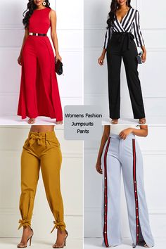 The most popular women s jumpsuits and pants large discounts quality assured fashion bottom pants jumpsuits womens fashion trends Mode Kimono, Work Attire, Mode Style, African Dress, Fashion Tips, Fashion Design, Fashion Trends, Fashion Videos, Fashion Fashion