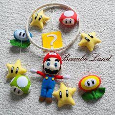 Марио из фетра мобиль детский. Для любителей и ценителей Nintendo