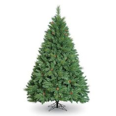 8ft Green Christmas Tree - Boston Pine Cone Tree - Artificial Christmas Tree