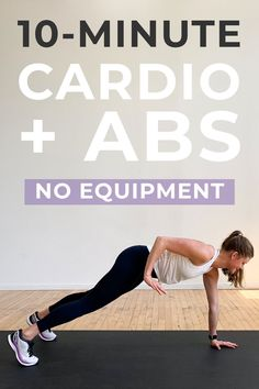 Get strong, lean abs with this 10-Minute ABS and CARDIO workout! We're combining strengthening bodyweight ab exercises with fat-burning HIIT for an effective, 10-minute workout! Abs And Cardio Workout, 10 Minute Ab Workout, Interval Training Workouts, Gym Workout Chart, Cardio Abs, Short Workouts, Workouts For Teens, Fitness Workout For Women, Easy Workouts
