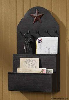 Metal Wall Pocket-Wall organizer, metal wall pocket, key carrier, mail holder, mail cubby, mail organizer, key holder