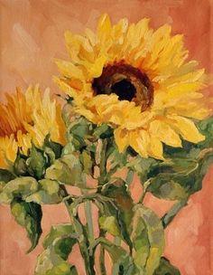 Il Girasole - An Italian Sunflower, painting by artist Deb Kirkeeide