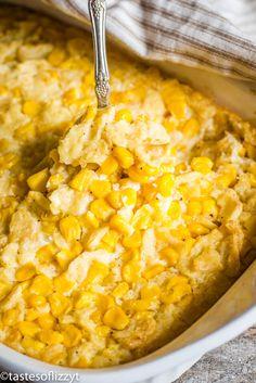 Scalloped Corn Casserole Recipe {Easy Vegetable Side Dish} - New Site Easy Corn Casserole, Cream Corn Casserole, Vegetable Casserole, Easy Casserole Recipes, Cornbread Casserole, Easy Vegetable Side Dishes, Side Dishes Easy, Veggie Dishes, Corn Recipes