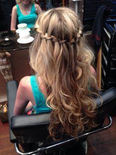 Boho chic! Hair by Sarah O'Kane.