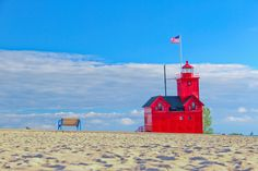 Looking for a fun beach town without having to go to the ocean? Check out Holland, Michigan with beaches, a hip downtown and lots of history