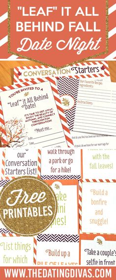 Leaf It All Behind Fall Date Night from The Dating Divas!! Such a fun Fall idea!