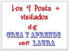 Crea y aprende con Laura: Los 9 Posts más visitados de Crea y aprende con La... Apps, Blog, Math Equations, Create, Single Wide, Cook, Tools, Recipes, Blogging