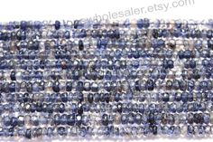 Iolite Faceted Roundel Quality AA / A pack by GemstoneWholesaler