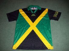 6e43f079e 1998 Jamaica Kappa Flag Football Shirt Top Jersey Reggae boyz Rasta Adults  XL Old Football Shirts