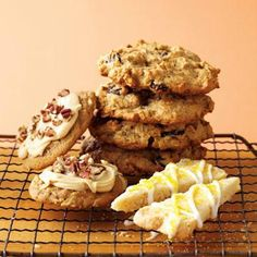 Three great cookies for fall! Caramel Apple, Banana-Oat and Lemon Shortbread. Click for recipe links: http://www.midwestliving.com/food/desserts/favorite-fall-cookie-recipes/#