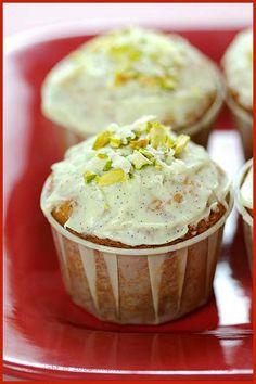 White chocolate muffins.