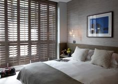 Normandy Shutters are made from the world's fastest growing tree species, our Normandy timber shutters are not only gentle to the touch, but are gentle on the environment too. Bedroom Shutters, Wood Shutters, American Shutters, Normandy, Blinds, Curtains, Furniture, Home Decor, Normandie
