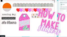 How To Make Planner Stickers: Layering, Borders, and Words [Silhouette] ...