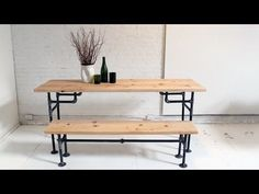 HomeMade Modern EP3 Wood + Iron Table