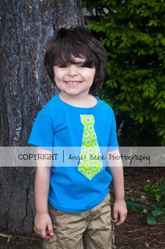 Adorable TIE Applique Toddler Boy Shirt Size by PinkPosieCouture, $15.00