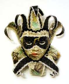 Hand Made DECORATIVE Venetian Jester MASQUERADE Carnevale MASK