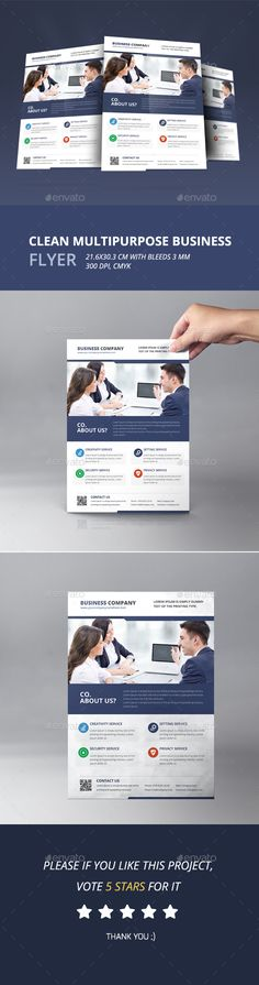 Multipurpose Business Flyer - Corporate Flyer Template PSD. Download here: http://graphicriver.net/item/multipurpose-business-flyer/16645924?s_rank=211&ref=yinkira