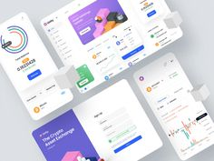 Unity Exchange is a minimal UI Kit targeting a wide variety of use cases for crypto-asset exchange platforms and mobile app in light or dark mode. Unity Exchange helps you ideate dashboard projects faster and easier with 140 premade screens, including over 100 component cards linked to symbols, and a global style guide. Types of dashboards included: Home (Dashboard), Exchange, Prices, Sign In, Sign Up, Wallet, Activities, Notifications, Promotions, Settings #figma #sketch #dashboard #uikit App Icon Design, Ux Design, Graphic Design, Website Illustration, Mobile Ui Design, Web Project, Dashboard Design, Landing Page Design, Ui Kit