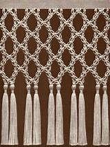 Macrame curtain, Macrame and Short