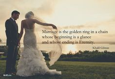 Wedding Quotes - Golden ring in a chain - for the best weeding toast