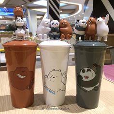 Choses Cool, Cute Water Bottles, We Bare Bears Wallpapers, Bear Wallpaper, Cloud Wallpaper, We Bear, Kawaii Room, Cute Cups, Aesthetic Makeup