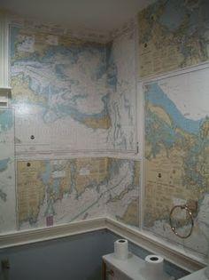 Migonis Home: nautical chart wallpaper