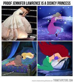 Princess Jennifer Lawrence…