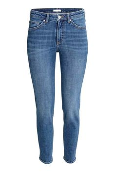 Slim Regular Jeans: 5-pocket, slim-fit jeans in washed, stretch denim with a…
