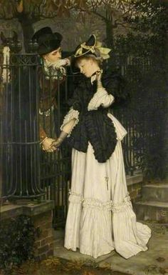 The Farewell ~ James Jacques Joseph Tissot ~ (French: 1836-1902)
