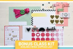 class kit for @jen Hyde Jockisch 's Pop off the Page 2 class - registration ends 4.30 and class starts 5.1!