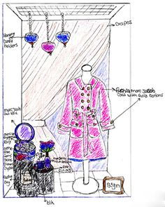 """""""Why window displays matter - sketch your idea""""  The right mannequins or props can really make a difference! And there are so many creative possibilities."""