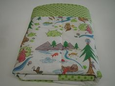 Otterly Fun Baby Minky Blanket 30 x 30 MADE TO by KBExquisites, $36.00