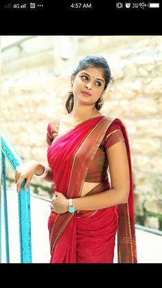 Beautiful Girl In India, Beautiful Girl Image, Most Beautiful Indian Actress, Beautiful Saree, Simple Sarees, Saree Photoshoot, Stylish Girl Images, South Indian Bride, Indian Beauty Saree
