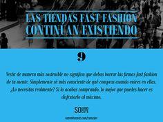 Consejo vestir sostenible: Las tiendas fast fashion continúan existiendo
