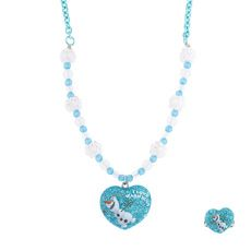 Disney Frozen Olaf Heart Pendant Necklace and Ring Set