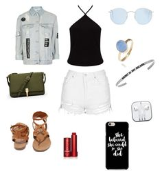 """""""Walk with music"""" by chimizmorales on Polyvore featuring moda, Topshop, Miss Selfridge, Breckelle's, Elizabeth and James, Ray-Ban, Fresh y Latelita"""